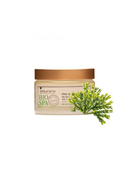 Aromatic oil scrub enriched with seaweed