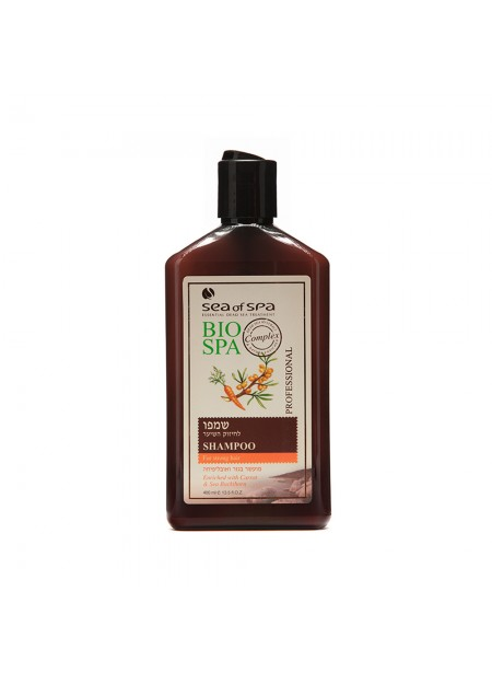 Fortifying shampoo enriched with carrot and sea buckthorn