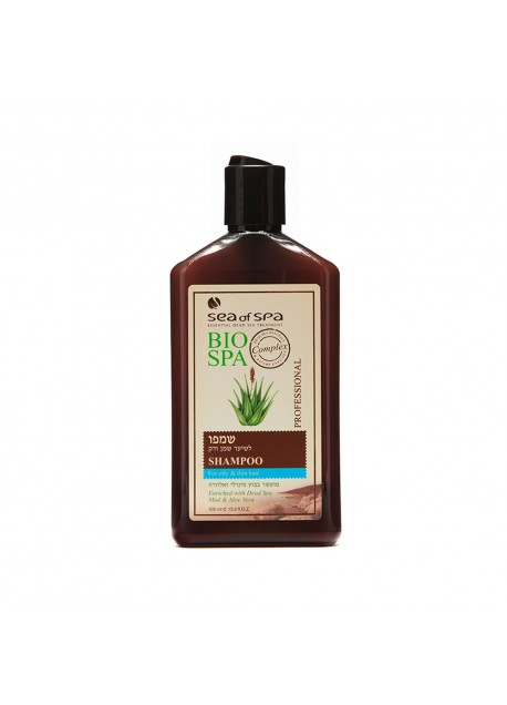 BIO-SPA Shampoo for fine or oily hair enriched with Dead Sea mud and Aloe Vera