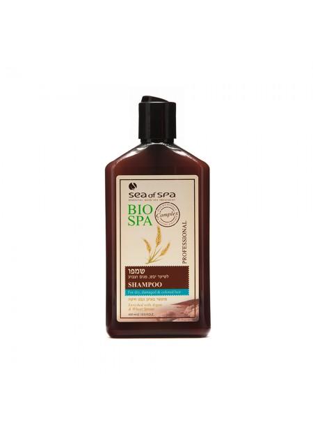 SEA OF SPA BIO-SPA Shampoing pour les cheveux secs, coloré à l'huile d'Argan & Germe de blé